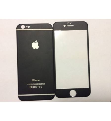 Glass Apple Black iPhone 6/6S комплект титаниум