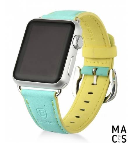 Ремешок Baseus Colorful Buckle Watch Кожа 38mm Blue