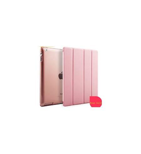 Чехол книжка розовое золото Smart Cover для iPad 2/3/4