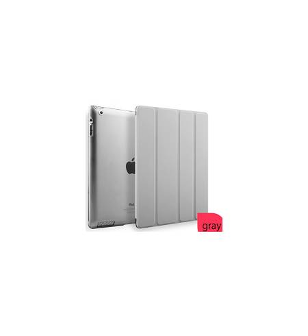 Чехол книжка серый Smart Cover для iPad 2/3/4