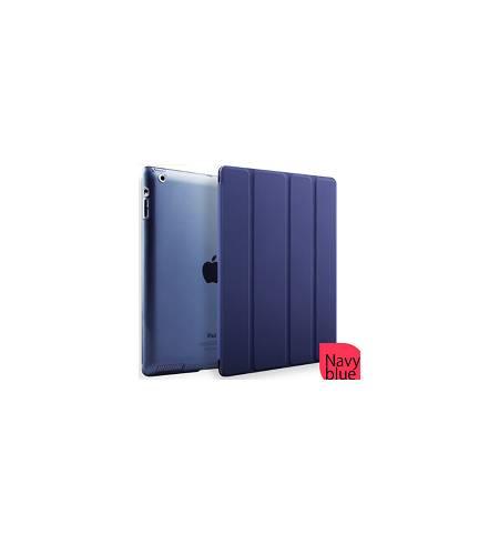 Чехол книжка темно-синий Smart Cover для iPad 2/3/4