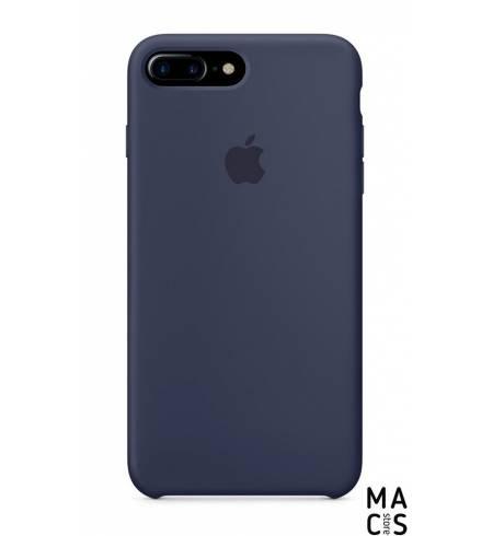 Чехол эко-кожа темно-синий Apple Logo для iPhone7 Plus