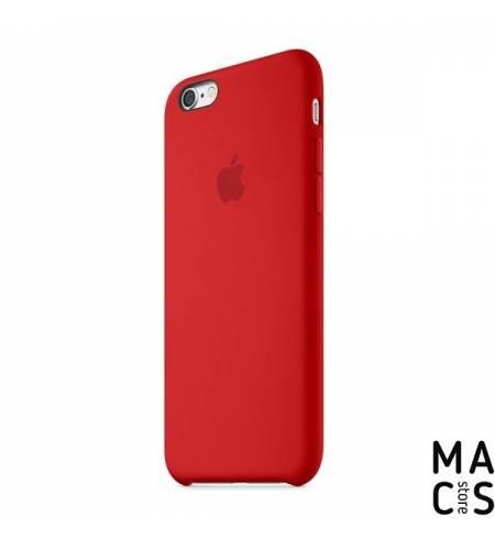 Чехол эко-кожа красный Apple Logo для iPhone 7