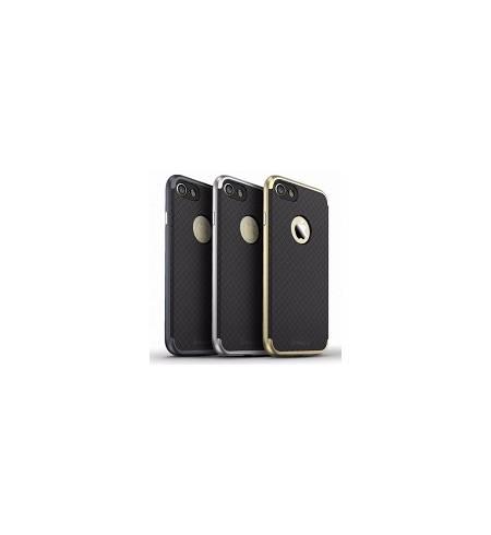 Чехол накладка Carbon бампер серебро IPAKY для iPhone7Plus