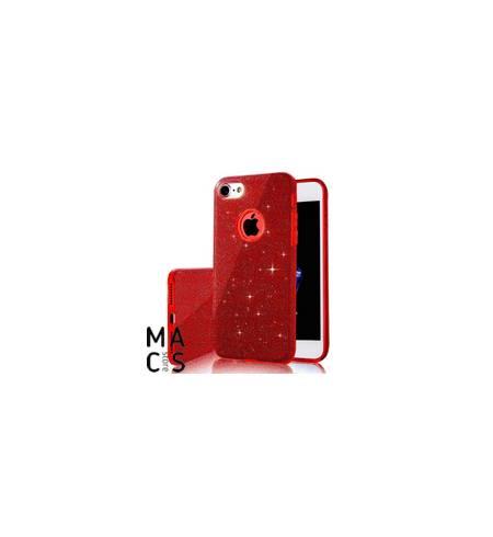 Чехол TPU красный Блестки Logo для iPhone7Plus