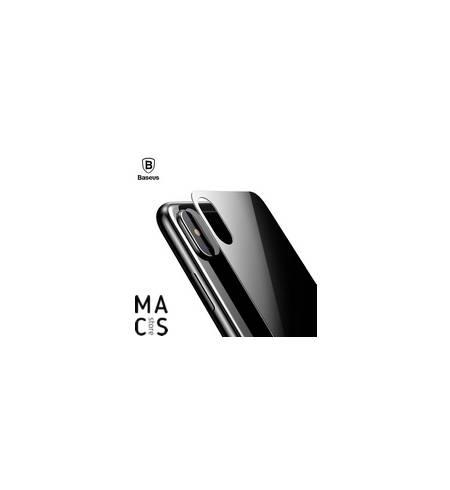 Защитное стекло Baseus на заднюю панель 0.3mm Black для iPhone X