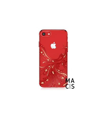 Чехол пласт красный Птица камни для Phone7Plus