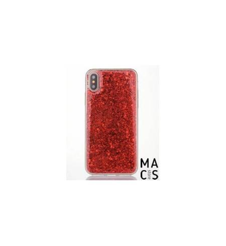 Пластиковые Чехол TPU пластик Блестки красные для iPhone8Plus