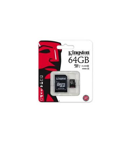 Kingston MicroSD 64Gb Glass10+Adapter SD