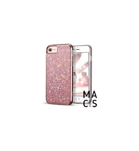 Чехол TPU пластик розовое золото Блестки для iPhone8Plus