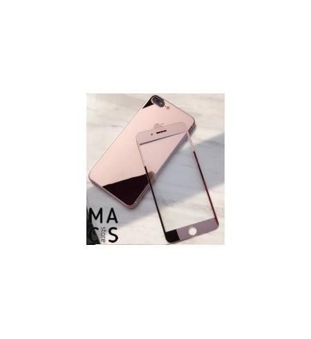 Защитное стекло зеркальное Rose Gold front/back для iPhone8Plus