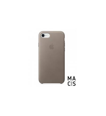Оригинальный чехол Leather Case Apple Taupe (MQH62) для iPhone8 (серый)