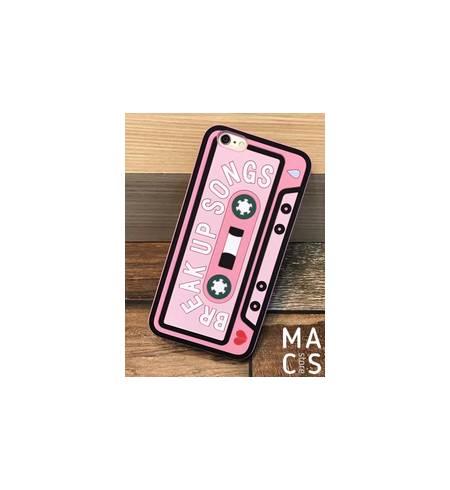Чехол силиконовый розовый Касета для iPhone8