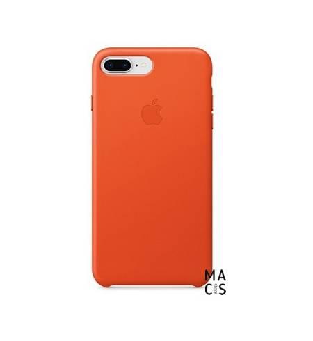 Чехол кожа ярко-оранжевый Original Apple для iPhone8Plus