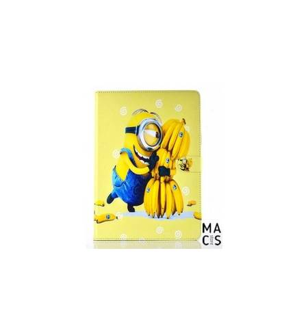 Чехол кожа книжка желтый Minions для iPad2/3/4
