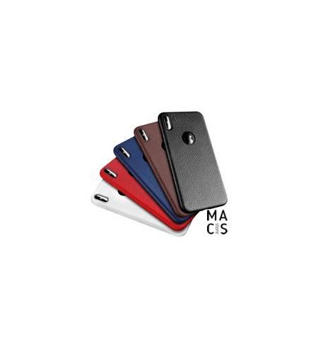 Чехол TPU черный под кожу для iPhone XS Max
