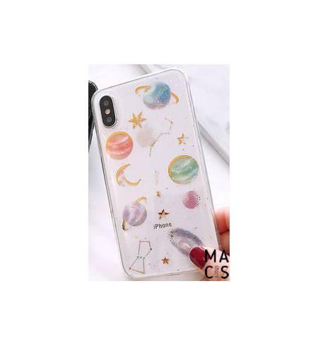 Чехол TPU прозрачный космос для iPhone XS Max