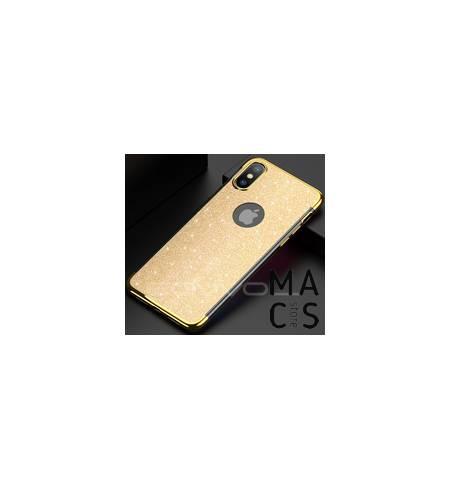 Чехол бампер TPU пластик золото блеск для iPhone XS Max