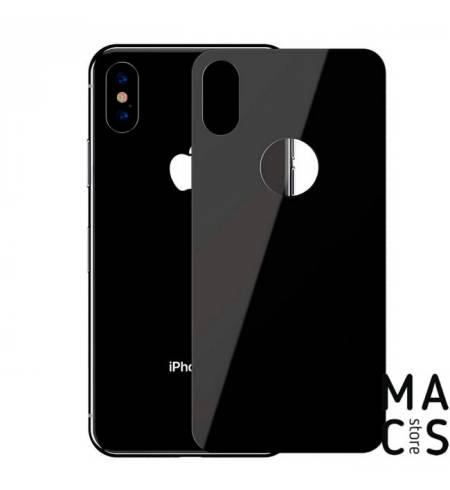 Защитное стекло на заднюю панель Black для iPhone X