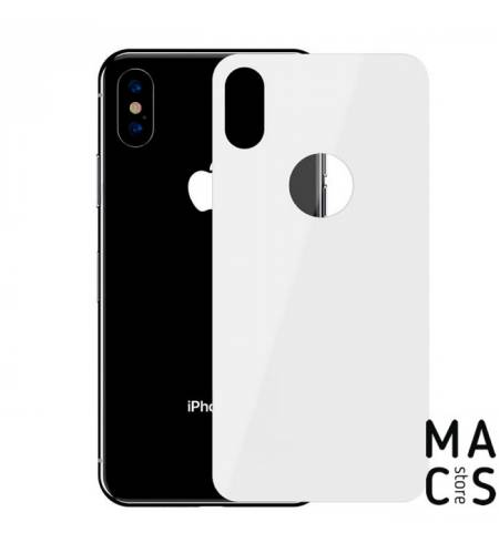 Защитное стекло на заднюю панель White для iPhone X