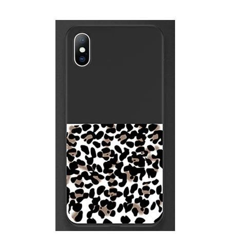Чехол ТРU леопардовый черный низ для iPhone7