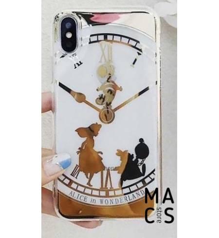 Чехол силикон белый Часы для iPhone Xs