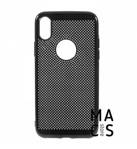 Чехол пластик сетка черный для iPhone Xs