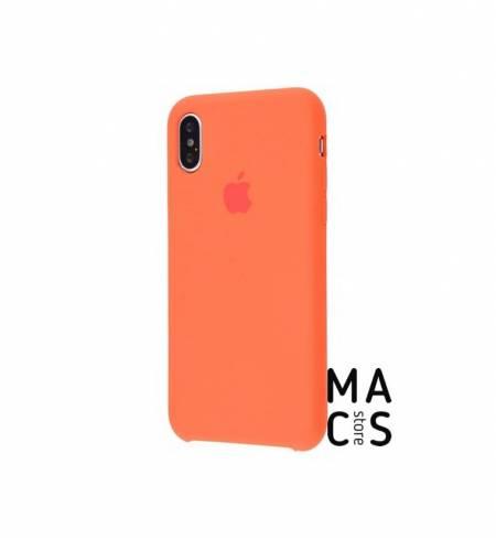 Чехол TPU пряный-оранжевый Apple Logo для iPhone Xs