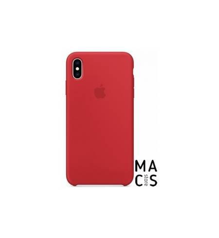 Чехол TPU красный Apple Logo для iPhone Xs