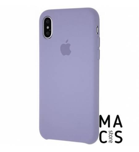 Чехол TPU темная лаванда Apple Logo для iPhone Xs