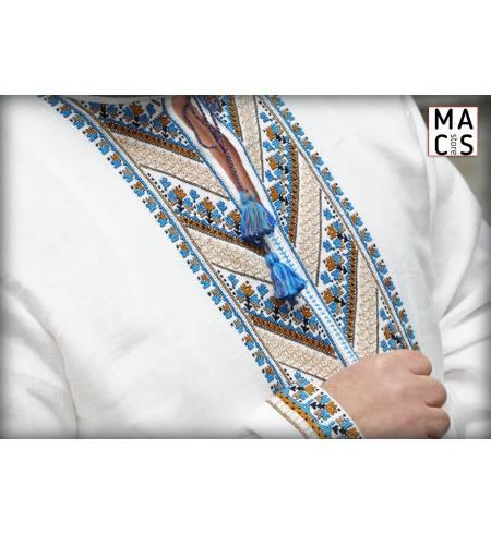 Вышиванка мужская белая