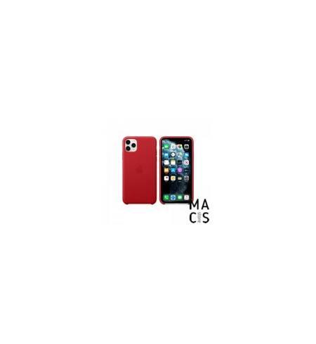 Чехол TPU красный Apple Logo для iPhone 11
