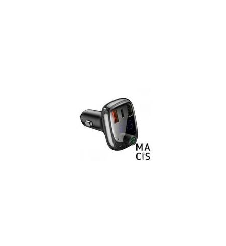 АЗУ Baseus S-13 Bluetooth FM Launcher 2USB + Type-C black