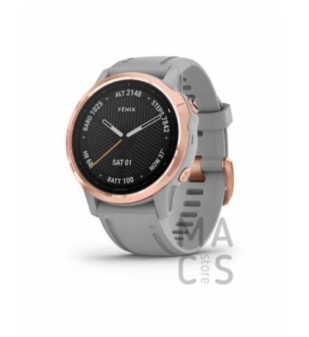 Garmin fenix 6S SAPPHIRE - Rose Gold-tone with Powder Gray Band