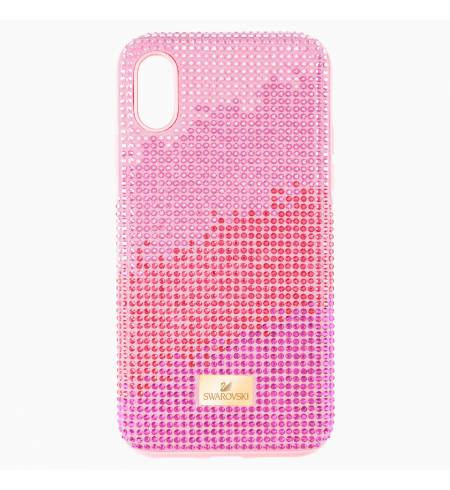 Чехол Swarovski High Love розовый кристалл для iPhone X/XS
