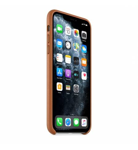 Чехол Apple Leather Case (Saddle Brown) MX0D2ZM/A для iPhone 11 Pro Max