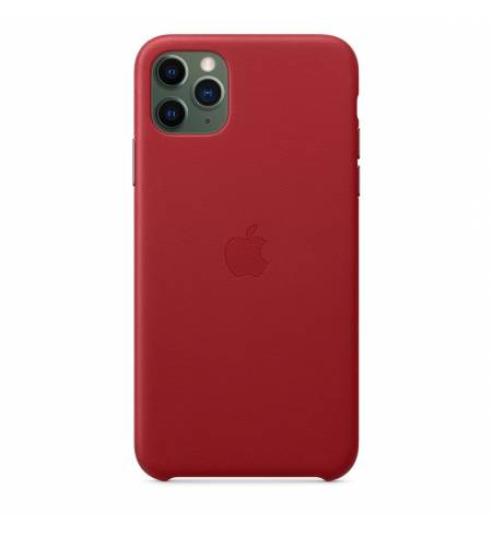 Чехол Apple Leather Case (PRODUCT) Red MX0F2ZM/A для iPhone 11 Pro Max