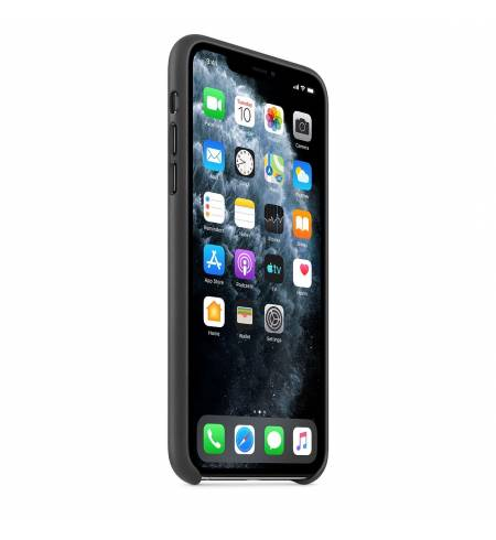 Чехол Apple Leather Case (Black) MX0E2ZM/A для iPhone 11 Pro Max