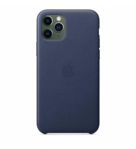 Кожаный чехол Apple Leather Case Midnight Blue (MWYG2) для iPhone 11 Pro