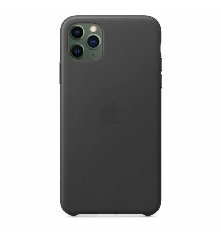 Оригинальный Чехол кожа чёрный Original Apple для iPhone11 Pro MWYE2