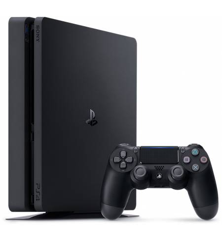 Консоль игровая SONY PS4, 1 TB, Black, Slim, UA, +HZD+The Last of Us+ Detroit+PSPlus 3М