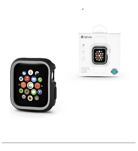Бампер TPU for Apple Watch 40mm/44mm Black-Grey