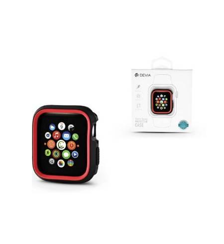 Бампер TPU for Apple Watch 40mm/44mm Black-Red