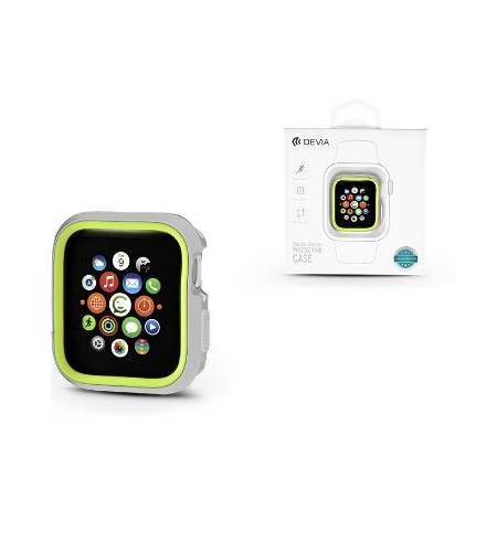 Бампер TPU for Apple Watch 40mm/44mm Silver-Yellow