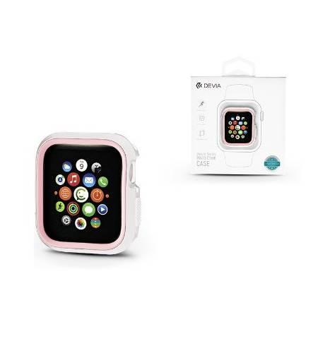 Бампер TPU for Apple Watch 40mm/44mm White-Pink
