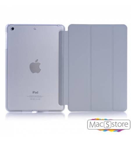 Чехол книжка серый smart case Apple logo для iPad mini4