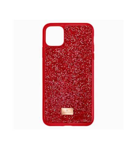 Glam Rock чехол Swarovski для iPhone 12/12 Pro, Красный кристал