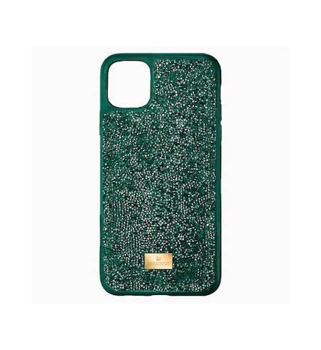 Glam Rock чехол Swarovski для iPhone 12/12 Pro, Зеленый кристал