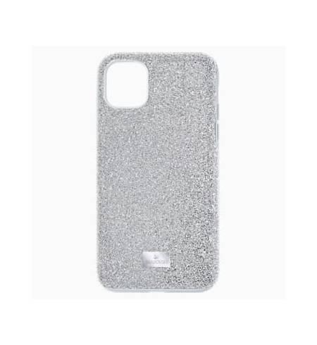 High чехол Swarovski для iPhone 12/12 Pro, Кристал оттенок серебра