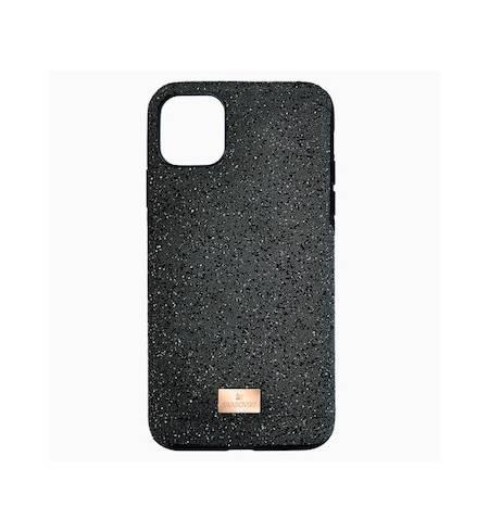 High чехол Swarovski для iPhone 12 Pro Max, Черный кристал